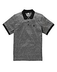 Jacamo Griffin Black Marl Jersey Polo L