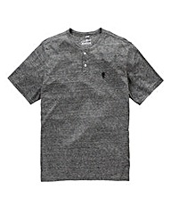 Jacamo Griffin Black Marl T-Shirt Long
