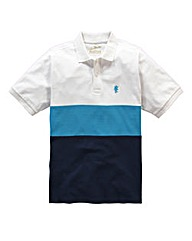 Jacamo Griffin Blue Colour Block Polo L
