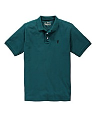 Jacamo Teal Embroidered Polo Long