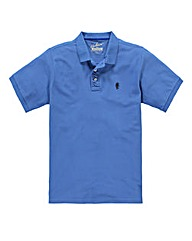 Jacamo Cornflower Embroidered Polo Reg