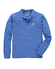 Jacamo Cornflower Long Sleeved Polo Reg