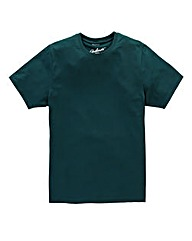 Jacamo Teal Dallas Basic Crew Tee Long