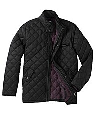 Jacamo Black Quilted Jacket Long