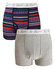 Penguin Pack of 2 Keyhole Striped Boxer