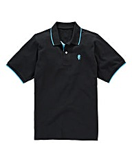 Jacamo Griffin Black Tipped Polo Long