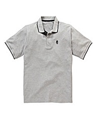 Jacamo Griffin Grey Tipped Polo Long