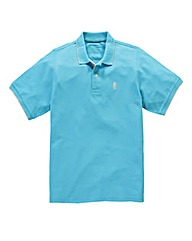 Jacamo Griffin Blue Tipped Polo Long
