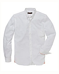 Ben Sherman L/S White Poplin Shirt Long