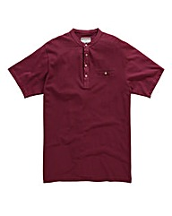 Flintoff By Jacamo Wine T-Shirt Long