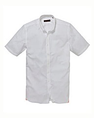 Ben Sherman S/S White Poplin Shirt Long