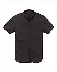 Ben Sherman S/S Black Poplin Shirt Long