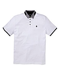 Black Label by Jacamo White Suri Polo L