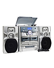 JDW Midi System with Turntable - Silver