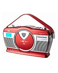 Retro Portable CD MP3 Red Radio