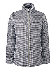 Black/White Print Padded Jacket