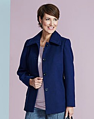 Navy Short Collared Coat