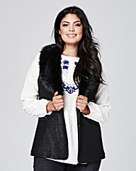 Faux Fur Trim Gilet