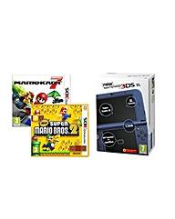 New 3DSXL Blue  New Super Mario 2  MK7