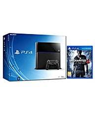 PS4 500gb Black  Uncharted 4