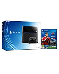 PS4 500gb Black Console  UEFA EURO 2016