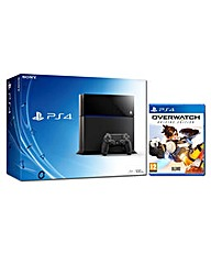 PS4 500gb Black Console With Overwatch