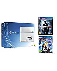 PS4500gb WhiteUncharted 4Ratchet Clank