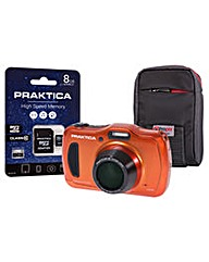 PRAKTICA WP240 Wtprf Orange Camera Kit