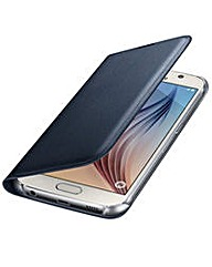 Samsung Gal S6 FlipWallet Cover(PU) Blk