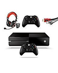 Xbox one+ controller+ headset+ charge