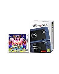 New 3DS XL Metallic Blue Console  Kirby