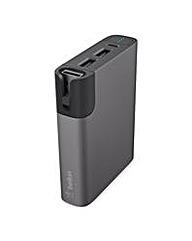 Belkin PowerBank+Cable 6000mAh Grey