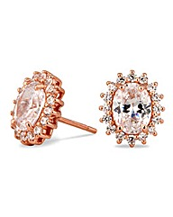 Simply Silver Rose Gold Kate Earring