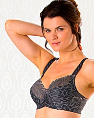 Miss Mary Full Cup Wired Grey Lace Bra