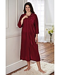 Polyester Velour Embroidered Zip Gown