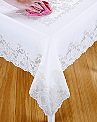 Vinyl Lace Tablecloth Round