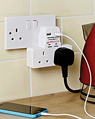 Socket Adapter with USB Points