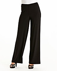 Wide Leg Jersey Trousers Length 31in