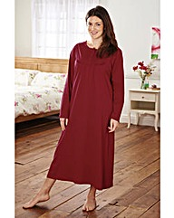Cotton jersey Long Sleeve Nightdress