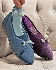 Classic Ladies Velour Slipper
