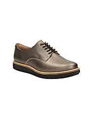 Clarks Womens Glick Darby Shoes Std Fit