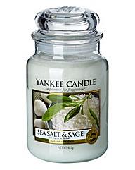 Yankee Candle Sea Salt & Sage Large Jar