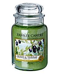 Yankee Candle Olive & Thyme Large Jar