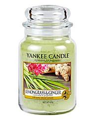 Yankee Candle Lemongrass & Ginger Jar