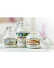 Yankee Candle Set of Three Small Jars
