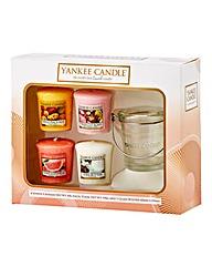 Yankee Candle Votive and Bucket Set