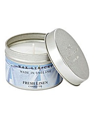 Wax Lyrical Fresh Linen Candle Tin