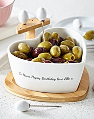 Personalised Heart Olive Bowl