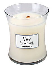 WoodWick Baby Powder Medium Jar Candle