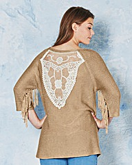 Angel Ribbons Brianna Fringe Trim Jumper